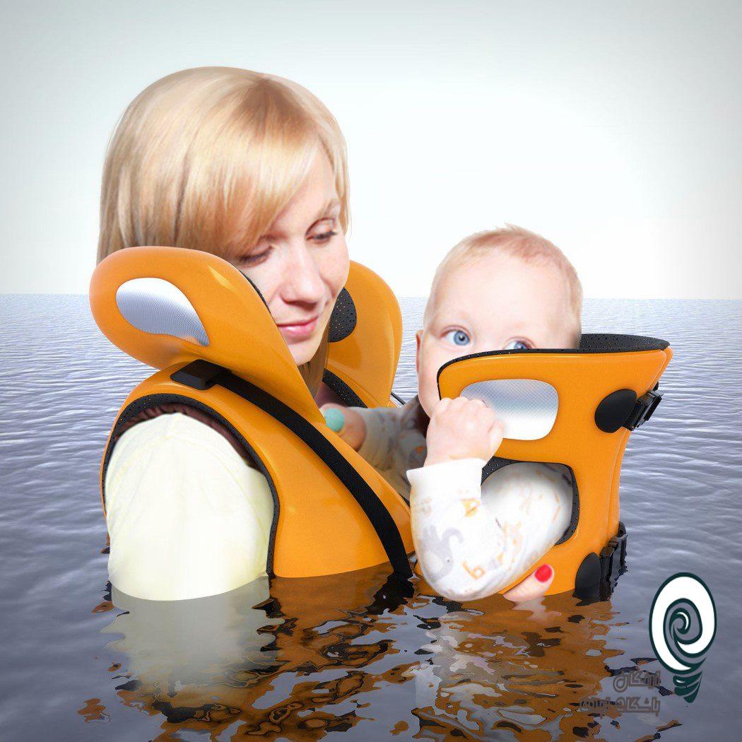 جلیقه نجات مادر و کودک جلیقه نجات مادر و کودک یک ابزار خلاقنه برای شنا بانوان و فرزندان با هم است اگر همسر شما شنا نمی داند و فرزند شما دوست دارد شنا کند این بهترین ایده برای شماست به راحتی مادر و کودک میتوانند شنا کنند و لذت ببرند و یا برای نجات که امکان جلیقه نجات برای کودک فراهم نیست این یک راهکار خوب است